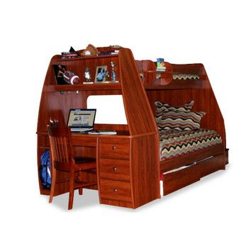 Berg Furniture Enterprise Twin Over Full Bunk Bed With Desk And