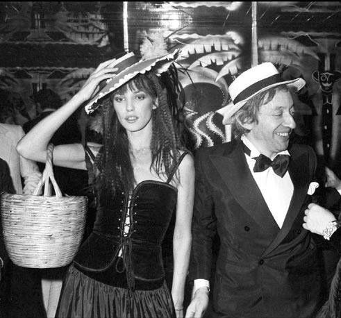 Jane Birkin en YSL et avec Serge Gainsbourg