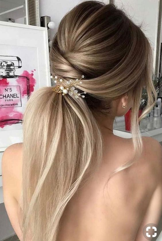 Best Hair Style For Christmas Eve Fashiontur Com In 2020 Wedding Hair Trends Bridal Ponytail Hair Styles