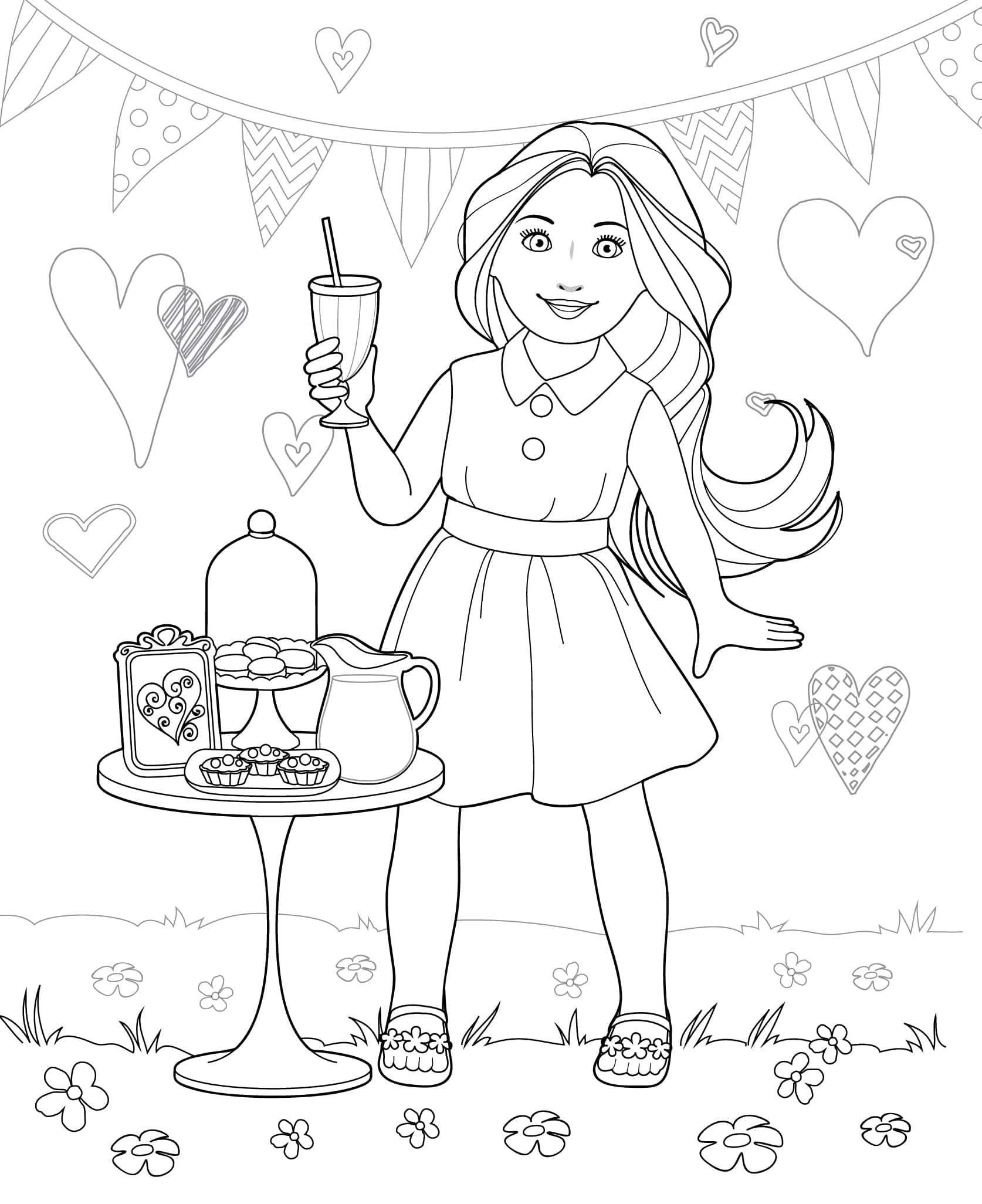 Printable Doll Coloring Pages Coloring Books Coloring Pages Coloring Pages For Girls
