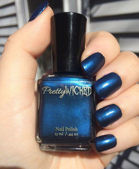 Dark Prussian Blue Nail Polish, Cordelia Polish, Blue Nail Polish ...