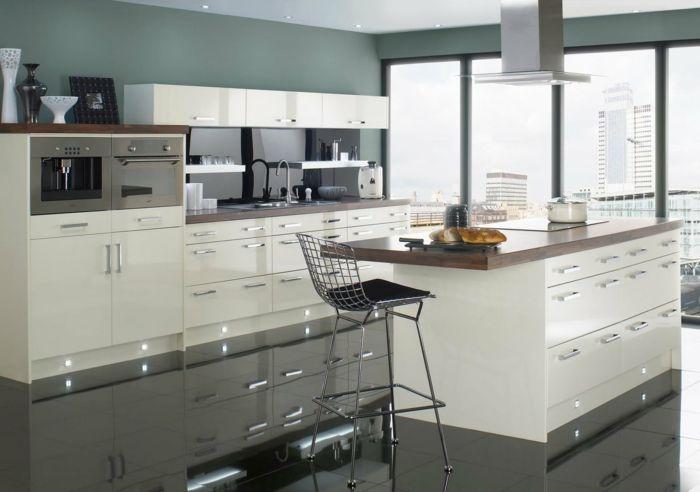 wandfarbe küche bodenfliesen küche kücheninsel graue wände Küche - kche wandfarben