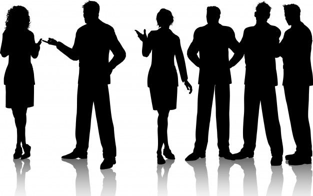 Silhouettes Of A Group Of Business Peopl Free Vector Freepik Freevector Silhouette People Person Silhouette People Png