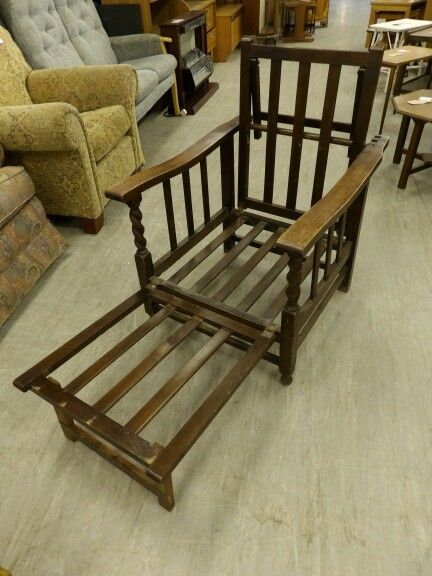 Oak Chair / Bed In The RGF Showroom ----------- Good Condition Was £30 Now £24 (PC063) Further Discounts Available Instore On Selected Items