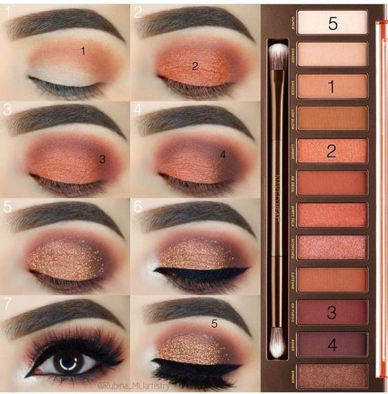 Daily brown smokey eye makeup tutorial #Eyemakeup – Makeup | Dessertpin.com  #makeupproduct - makeup products