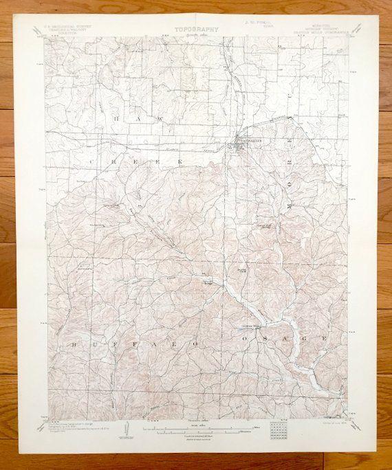 Antique Gravois Mills, Missouri 1904 US Geological Survey ...