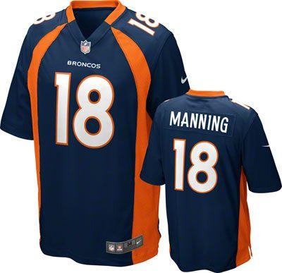 250f476312 Denver Broncos Jersey Peyton Manning Jersey  Alternate Navy Nike ...