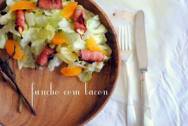 Salada de funcho, bacon e laranja #salada #funcho #bacon #laranja