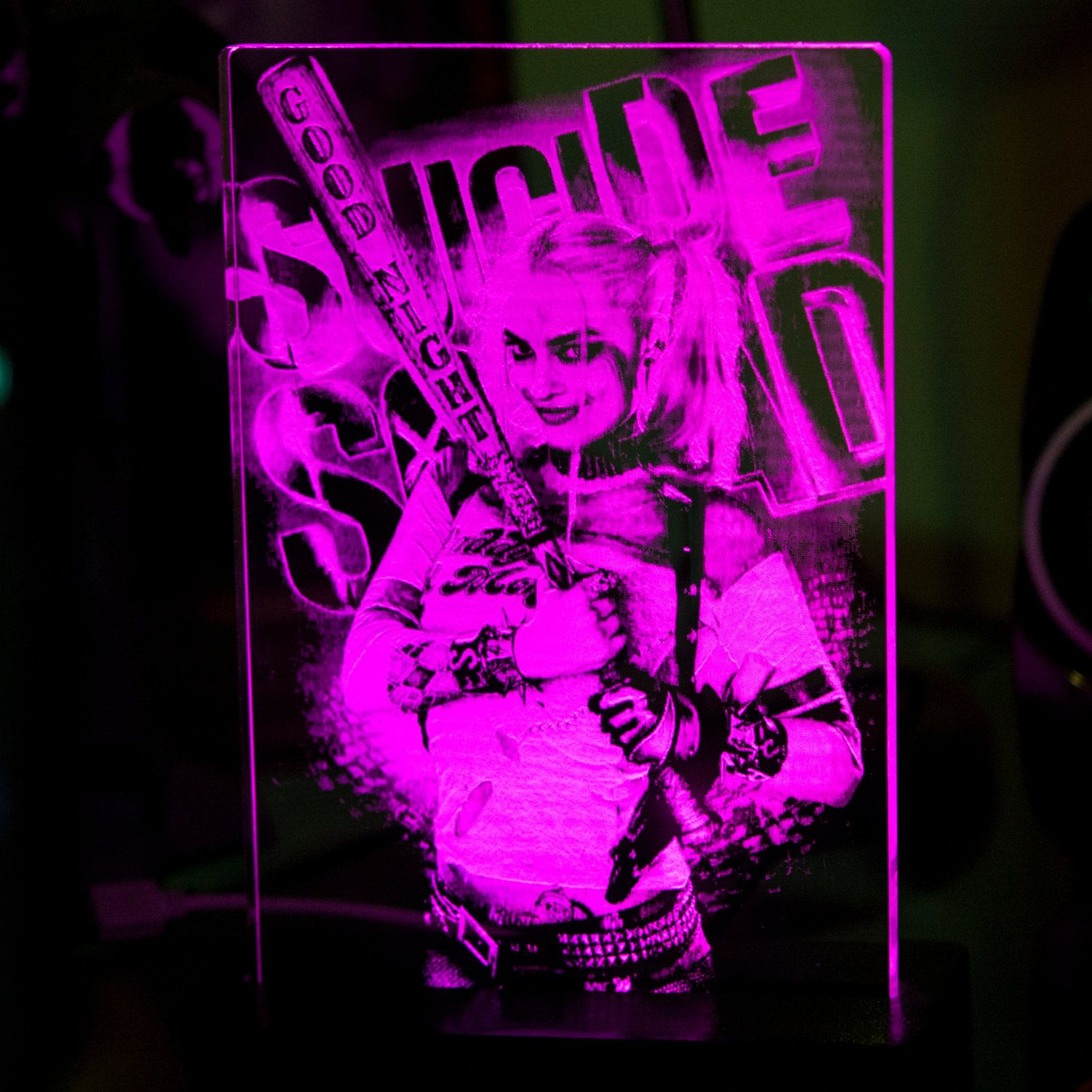 Doctor Harley Quinn Suicide Squad LED acrylic display sign by HeroLights on Etsy
