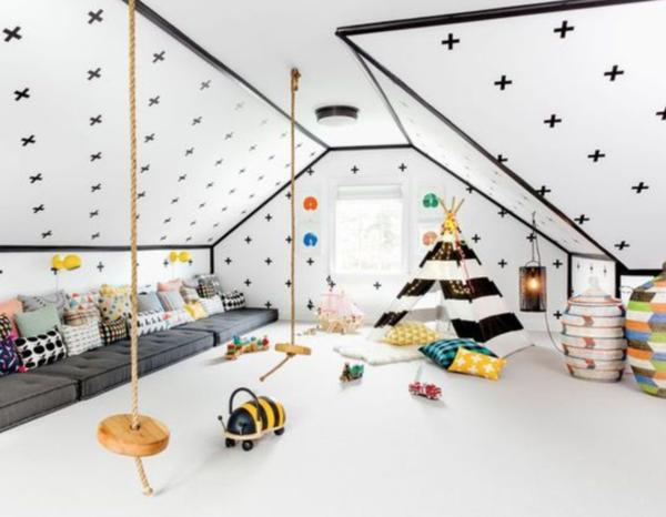 Inspiration: Une salle de jeux pour les enfants.