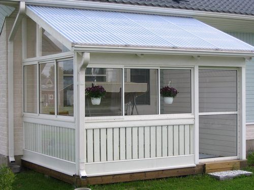 Kuvagalleria Lasimanni Screened In Porch Diy Building A Porch Porch Greenhouse