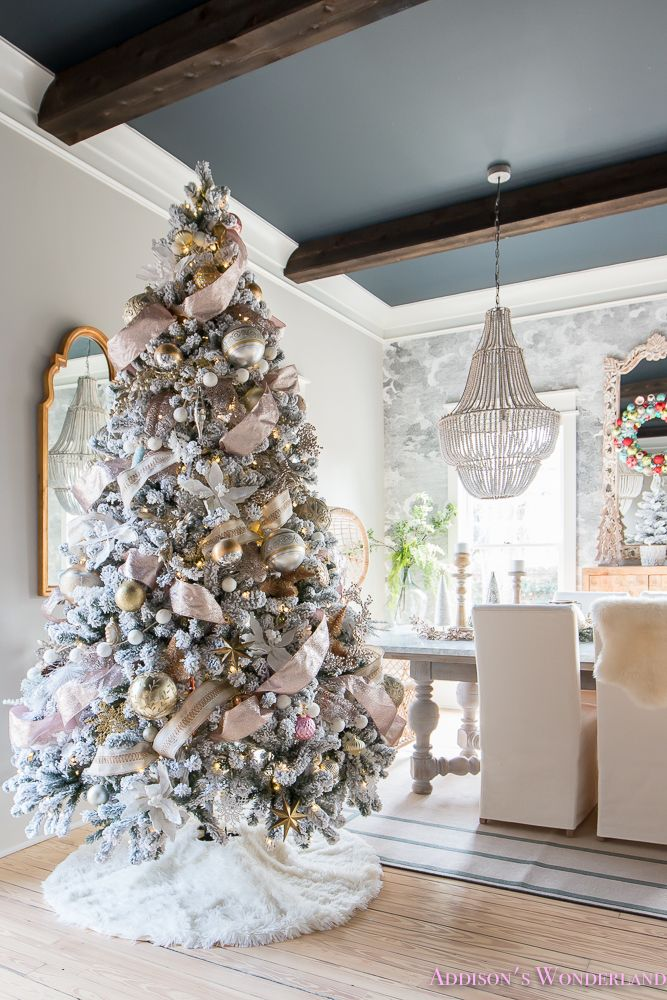 Our Colorful Christmas Holiday Living Room Home Tour #blackchristmastreeideas