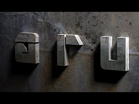 A Tutorial On Photoshop Cc To Create 3d Text Effects Using A Grunge Wall And Metal Text Having Realistic Dro Photoshop Tutorial 3d Text Effect Metal Typography