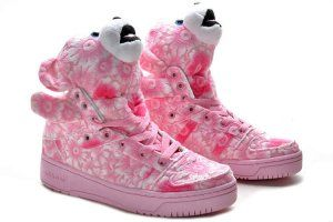 reputable site 7b13d 42f4e Adidas Jeremy Scott Flower Power Bear Pink Shoes