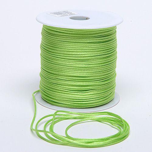 200 yards 2 mm Green Satin Cord