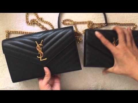 7 Comparison Large Vs Small Ysl Saint Laurent Monogram Woc Youtube Ysl Wallet On Chain Wallet Chain Ysl Bag
