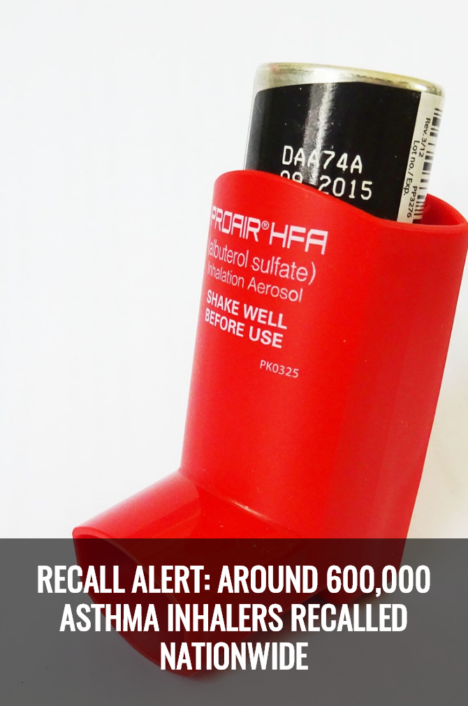 Recall Alert: Around 600000 Asthma Inhalers Recalled ...