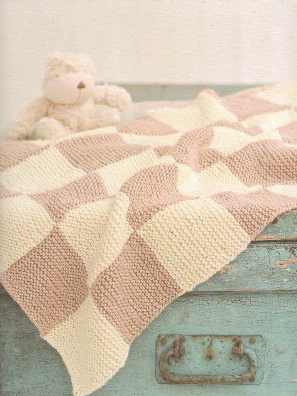 garter stitch checkered baby blanket | knitting | Pinterest | Mantas ...