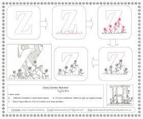 Daisy Garden Alphabet  Distructions  By Judy West