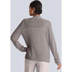 Photo of Alba Moda, cardigan made from ribbon yarn, beige Alba Moda