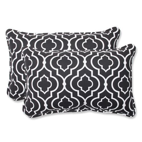 Black Outdoor Starlet Night Rectangular Throw Pillow Set Of 2 Lumbar Throw Pillow Perfect Pillow Outdoor Pillows