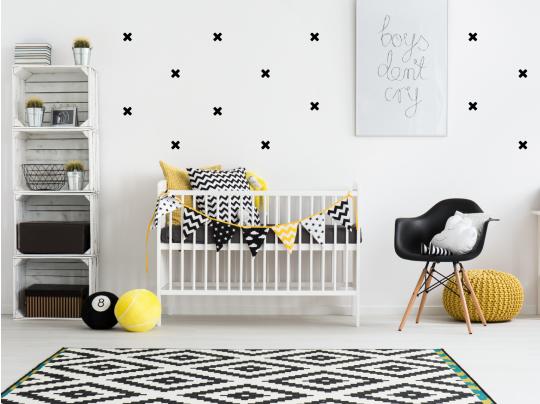muursticker kruisjes kruisjes scandinavisch babykamer