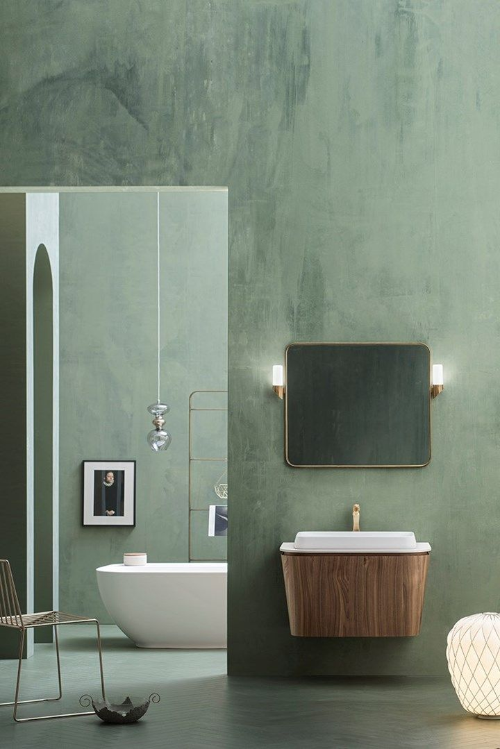 Photo of Suede. Bathroom inspired by Art Deco style