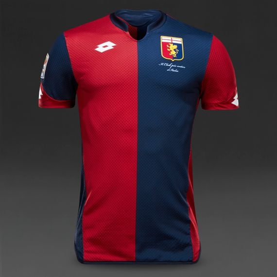 Lotto Genoa Home 15/16 Shirt - Red/Blue