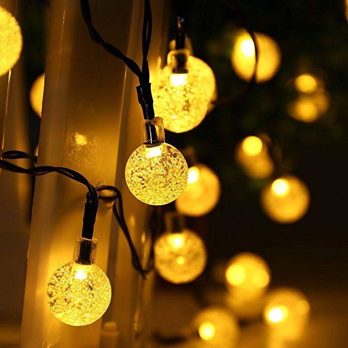Solar Weihnachtsbeleuchtung.Ledertek Solar Lichterkette Aussen Led Kugel