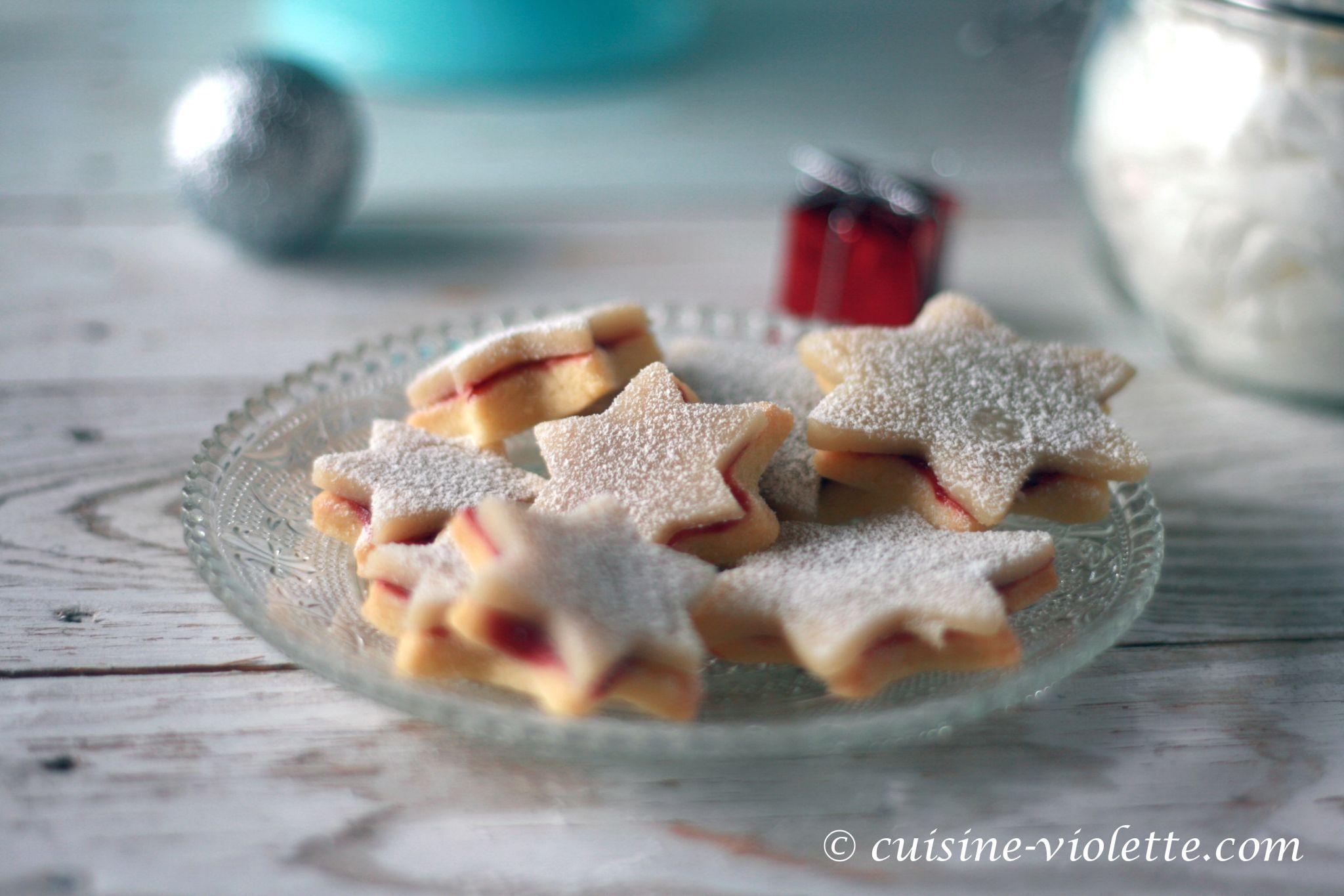 Linzer Kekse mit Marzipan