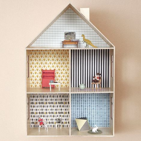 Free printable dollhouse wallpapers! Look for the link to the PDF ...