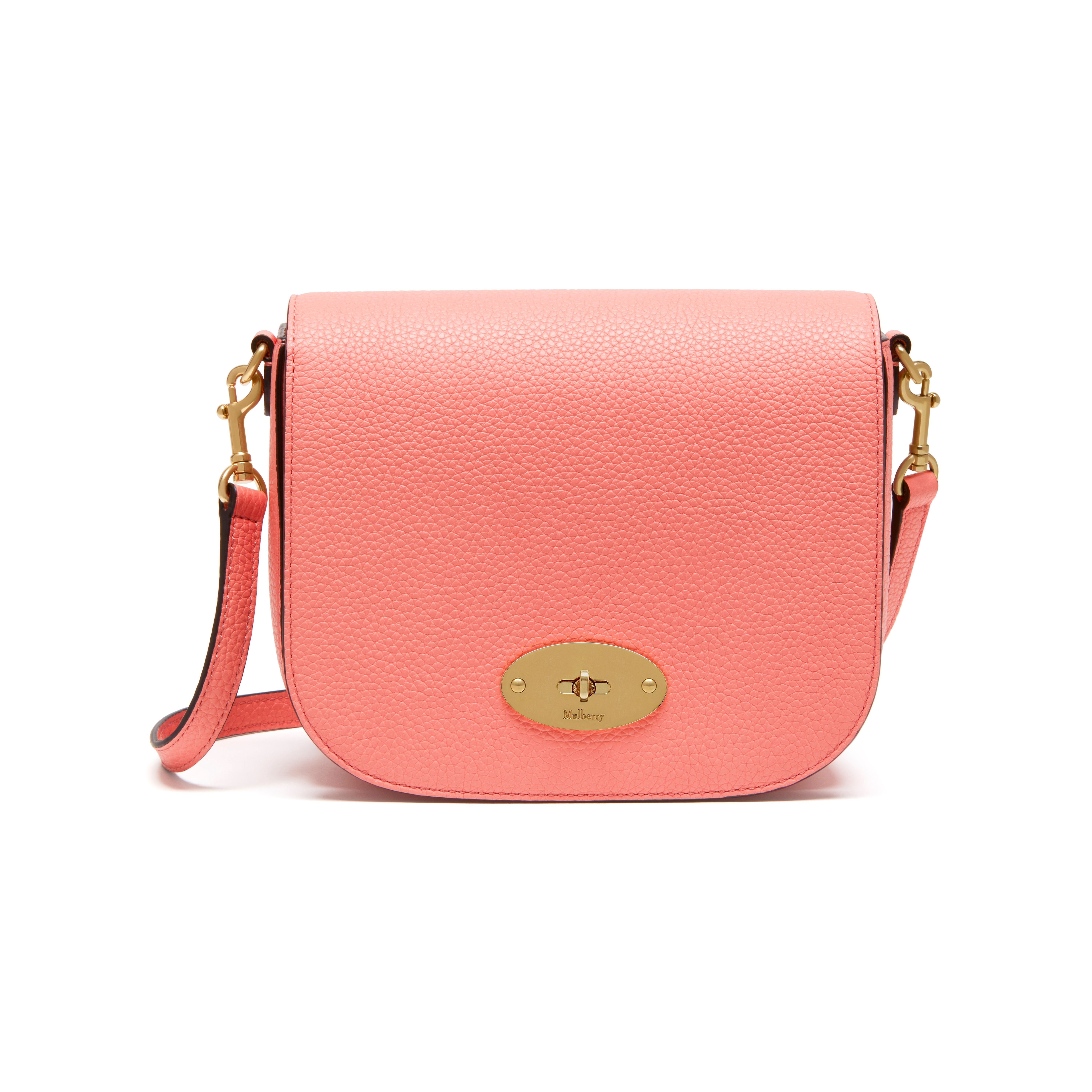 Shop the Darley in Small Classic Grain Leather in Macaroon Pink at Mulberry.com.  A classic clutch 74504ec021a6d