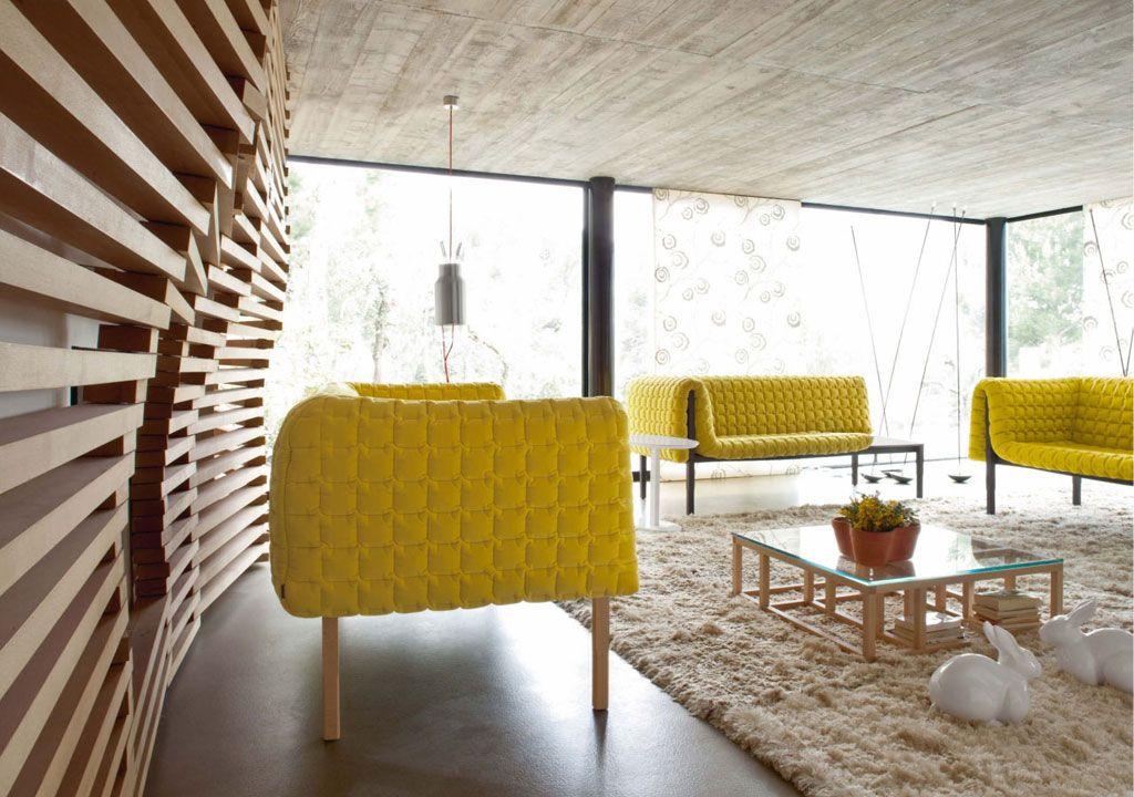 Contemporary Concrete House Living Room Interior Design Graced With ...