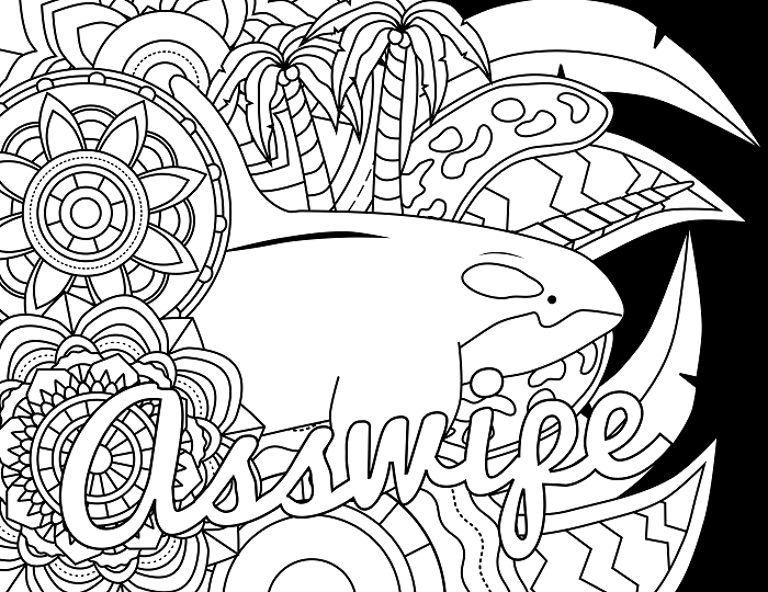 14 FREE Printable Swear Word Coloring Pages At Swearstressaway