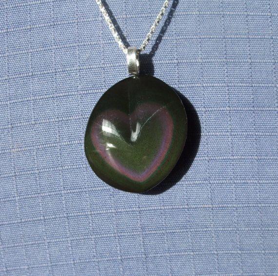 Rainbow obsidian silver pendant handmade by lisa berry silver aloadofball Gallery