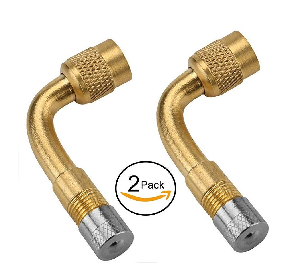Motorcycle Car Truck Bicycle Scooter Air Tyre Valve Extension Adapter Brass HI