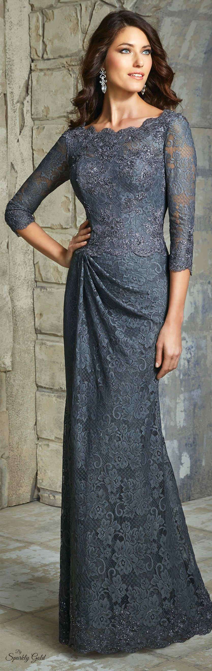 VM gray maxi lace dress women fashion outfit clothing style apparel @roressclothes closet ideas