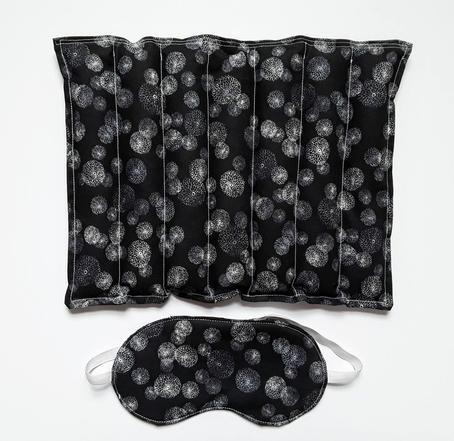 Rice And Lavender Heating Or Cooling Pad With Matching Eye Mask
