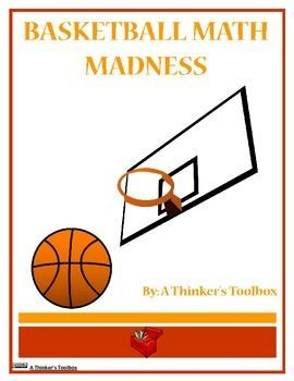 Basketball Math Madness By A Thinker S Toolbox Includes 16 No Prep Math Worksheets That Are Great For 1st And 2nd Graders Basketball Math Math Madness Math