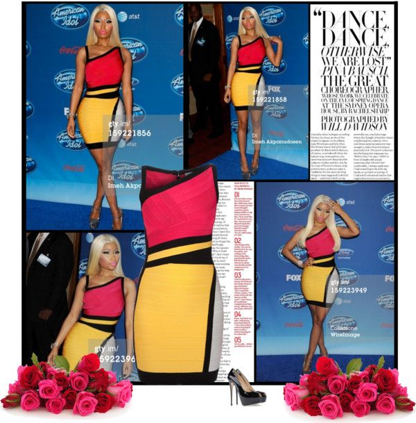 """Nicki Minaj attends the FOX's 'American Idol' Season 12 Premiere at Royce Hall on the UCLA Campus on January 9, 2013 in Westwood, California"" by alessia3012 ❤ liked on Polyvore"