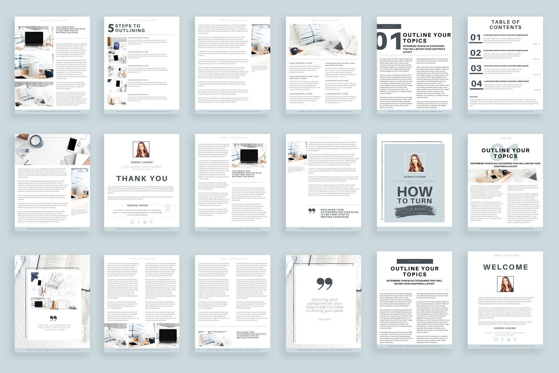 20Page eBook Canva Template Ebook template