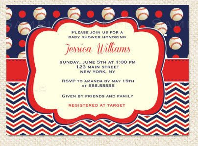 i love these and you print your own!!! baseball baby shower, Baby shower invitations