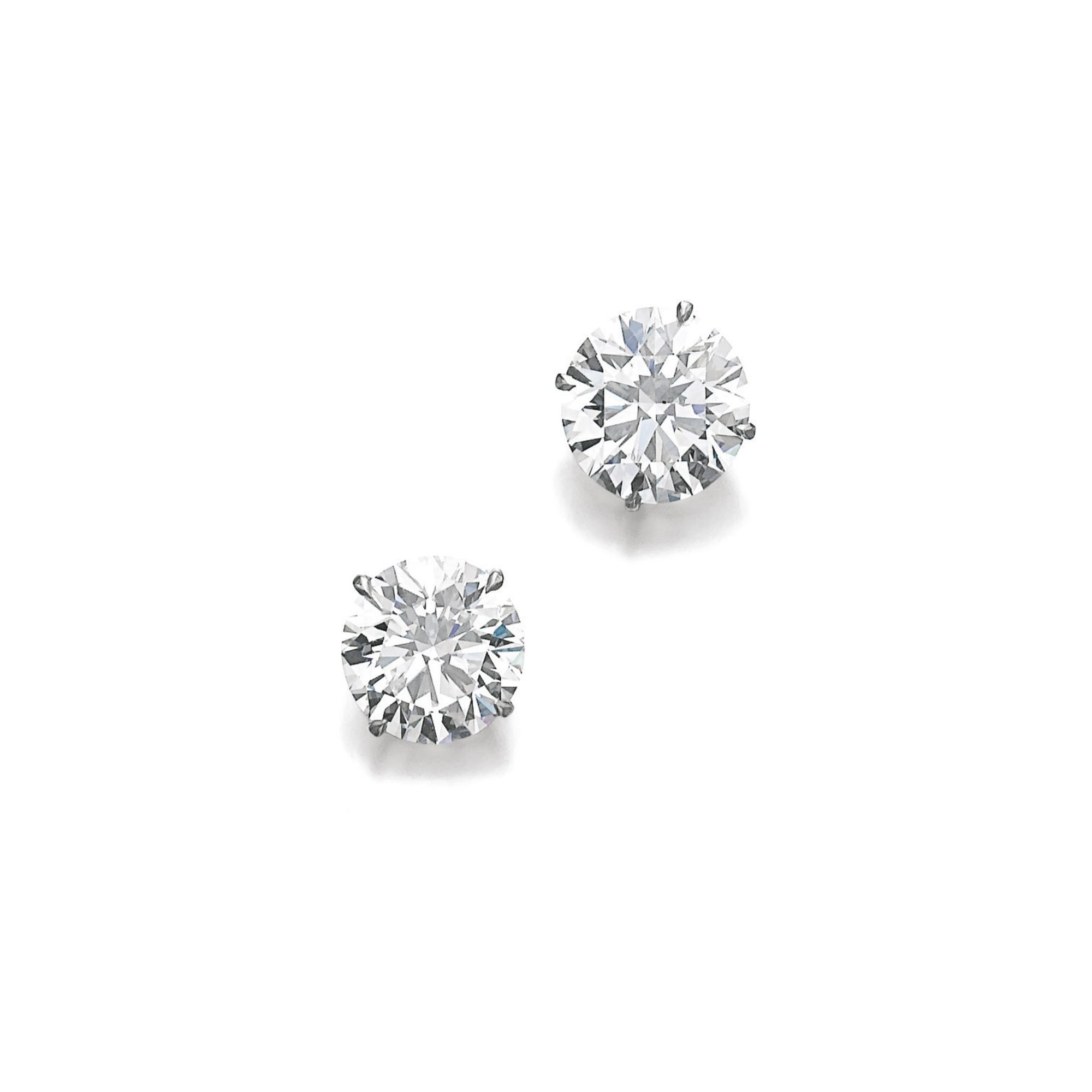 Pair of fine diamond ear studs