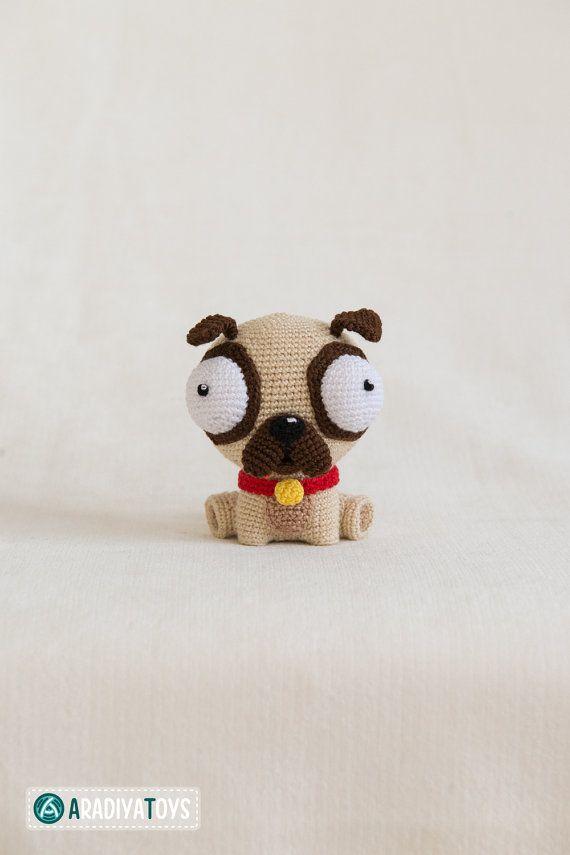 Crochet patrones de Pug Luis de Diseño AradiyaToys por Aradiya ...