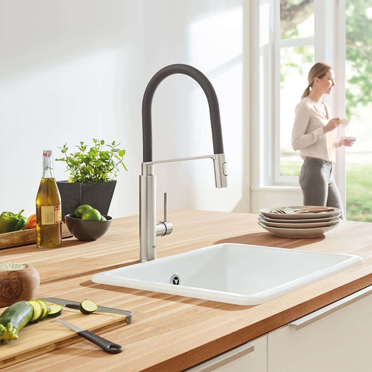 Grohe Concetto C Spout Single Lever Mixer Tap In Supersteel