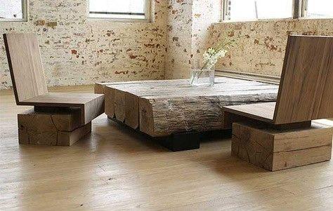 chunky wood beams make beautiful simple furniture that is elegant rh pinterest com rustic modern furniture gallery rustic modern furniture calgary