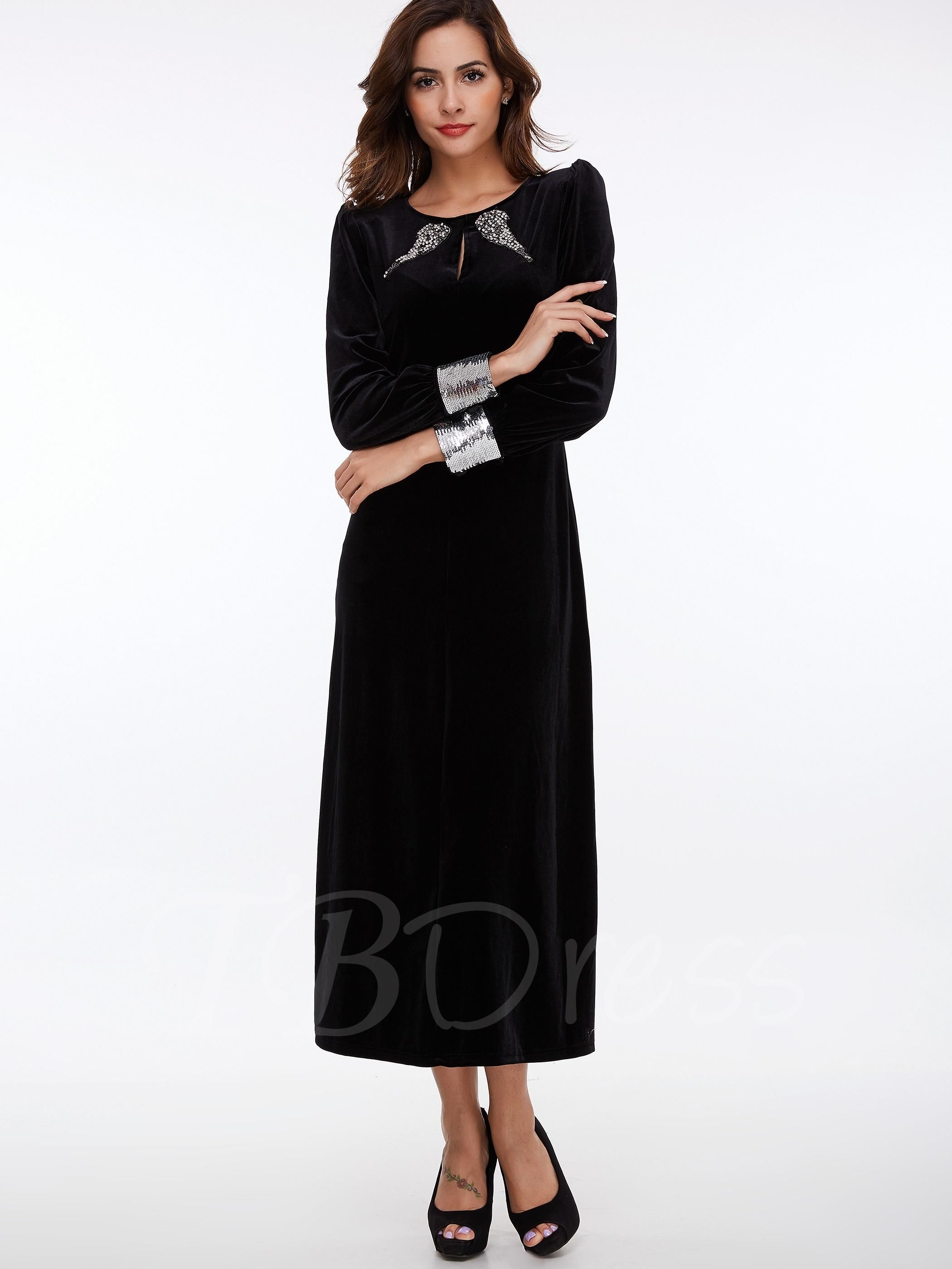 Adorewe tbdress long sleeve sequins womens maxi dress adorewe
