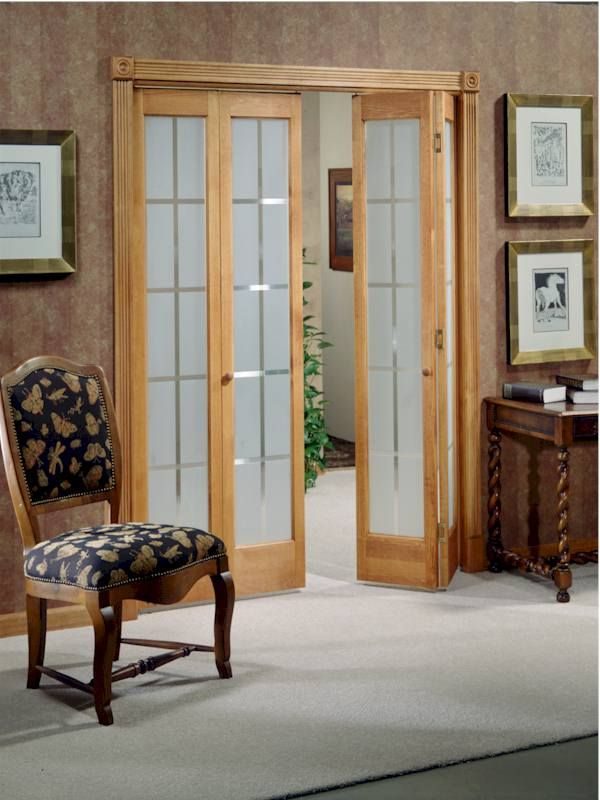 Bifold Door With Frosted Colonial Glass Glass Bifold Doors
