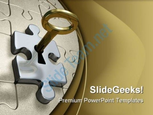 Key to puzzle success powerpoint template 0510 presentation themes check out this amazing template to make your presentations look awesome at toneelgroepblik Images