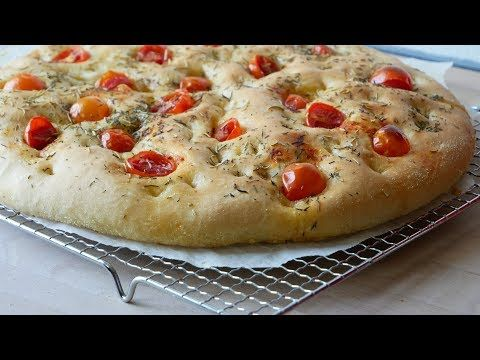 Italian Foccacia with Tomatoes (Recipe)    [ENG SUBS]